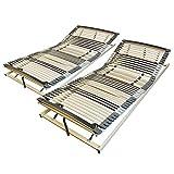 AM Qualitätsmatratzen Ergonomischer 7-Zonen Lattenrost - 160x200 cm - fertig montiert - 44 Leisten...