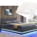ArtLife Polsterbett Toulouse 180x200 cm – Bett mit Matratze, Lattenrost, Kopfteil, LED & Stauraum...